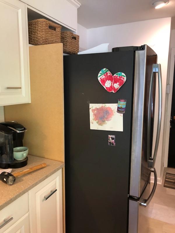DIY cabinets around refrigerator on a budget