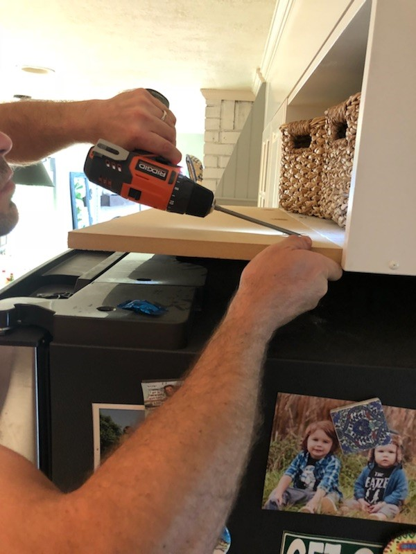 how to frame in a fridge on a budget