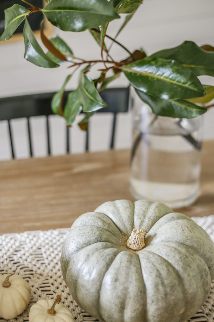 neutral fall decor for table