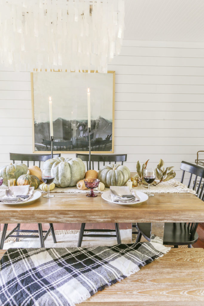 modern farmhouse dining table for thanksgiving