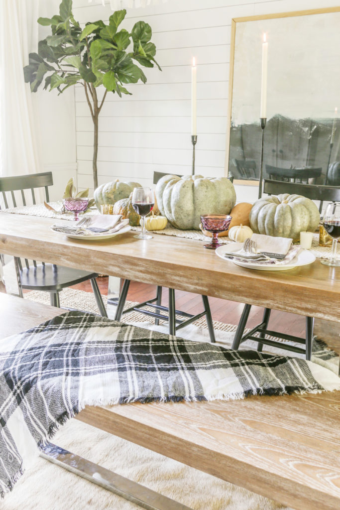 modern farmhouse tablescape ideas for thanksgiving