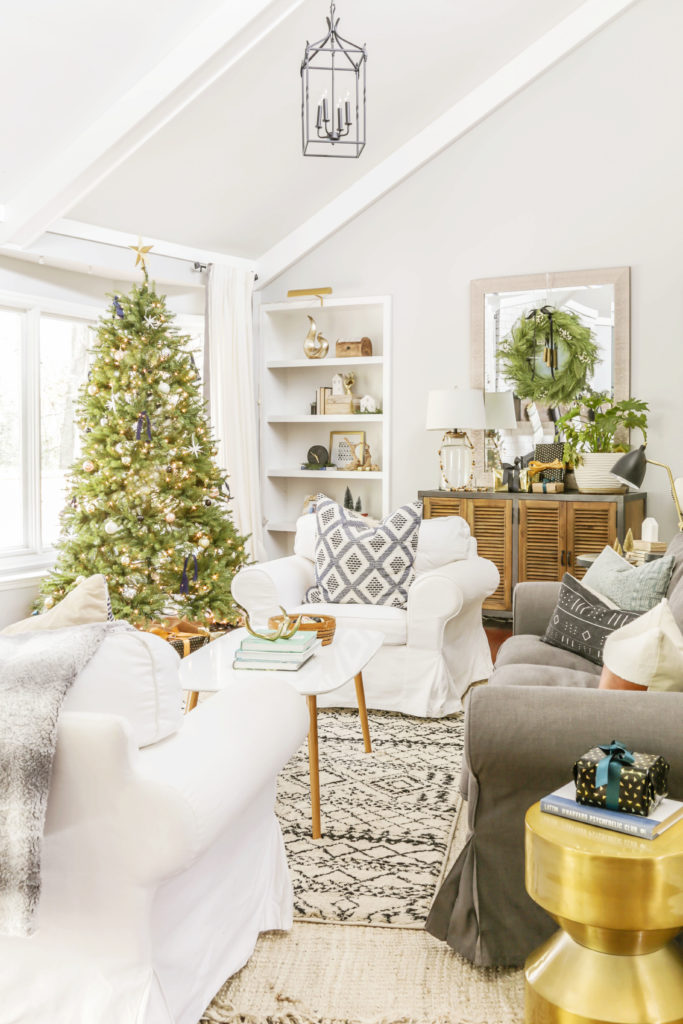 Neutral Modern Christmas Home Tour Part One Scandi Meets