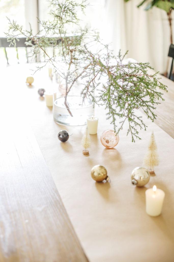 scandi earthy modern christmas table