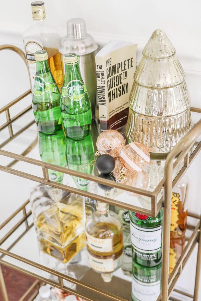 christmas bar cart