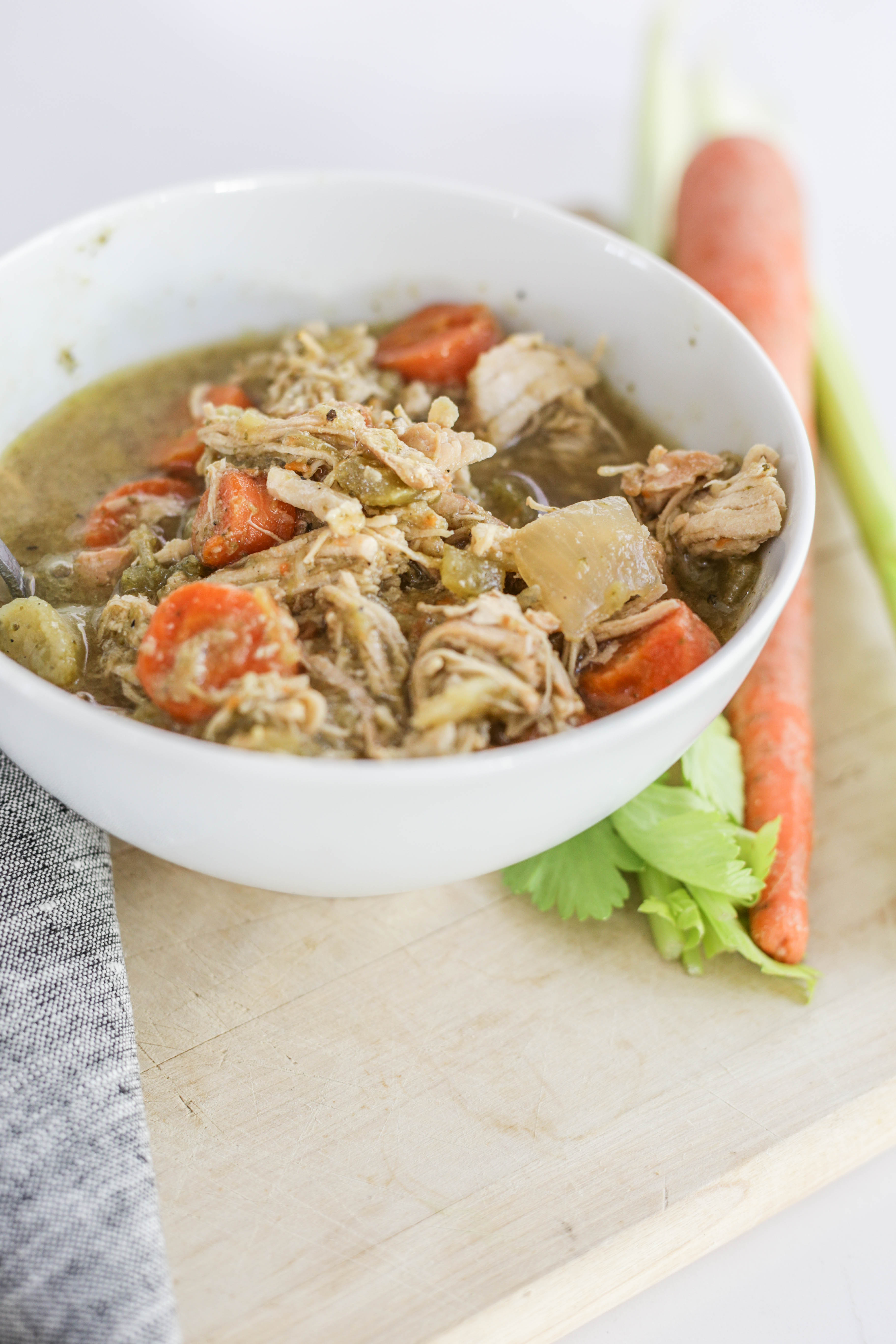 chicken vegetable bone broth soup in crockpot recipes