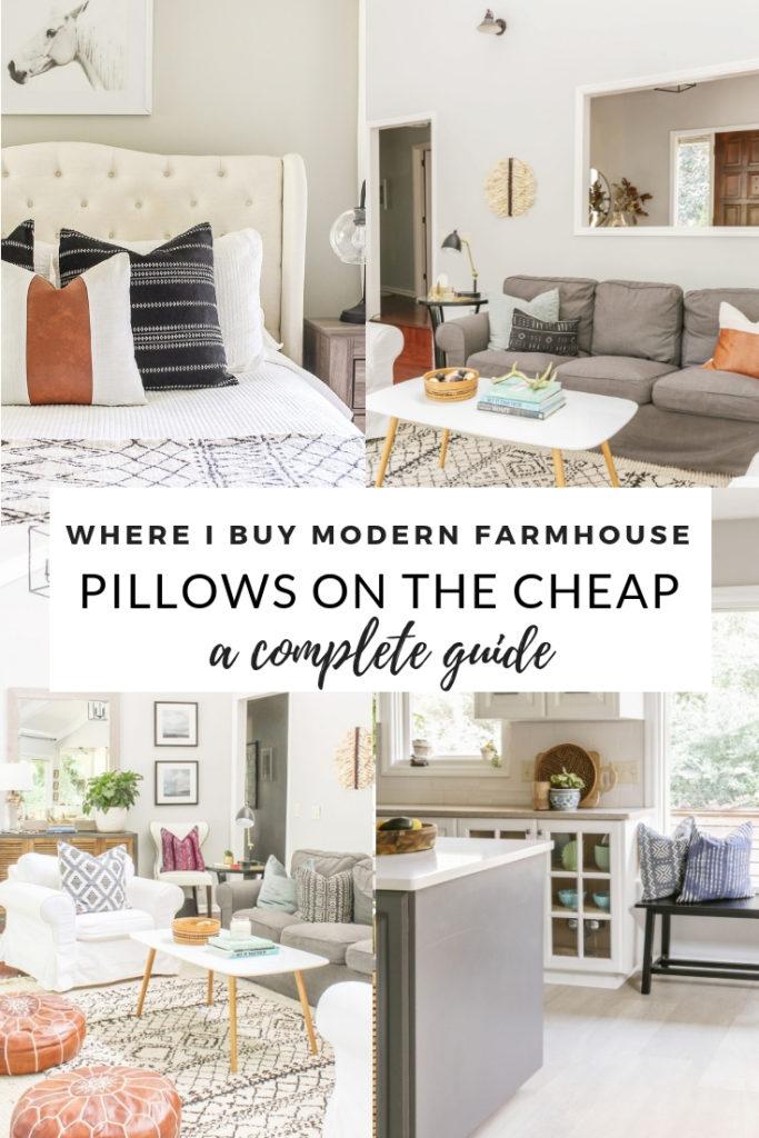 where to get farmhouse pillows on the cheap