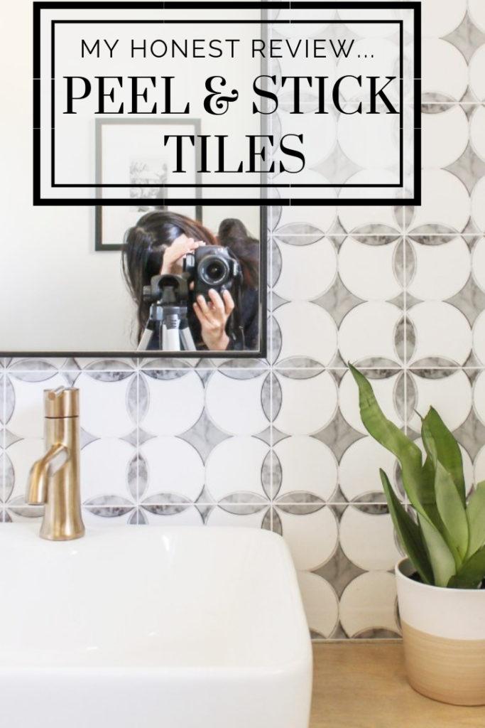 an honest review of my DIY peel and stick tile backsplash