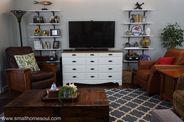 ideas for decorating with a tv in the living room
