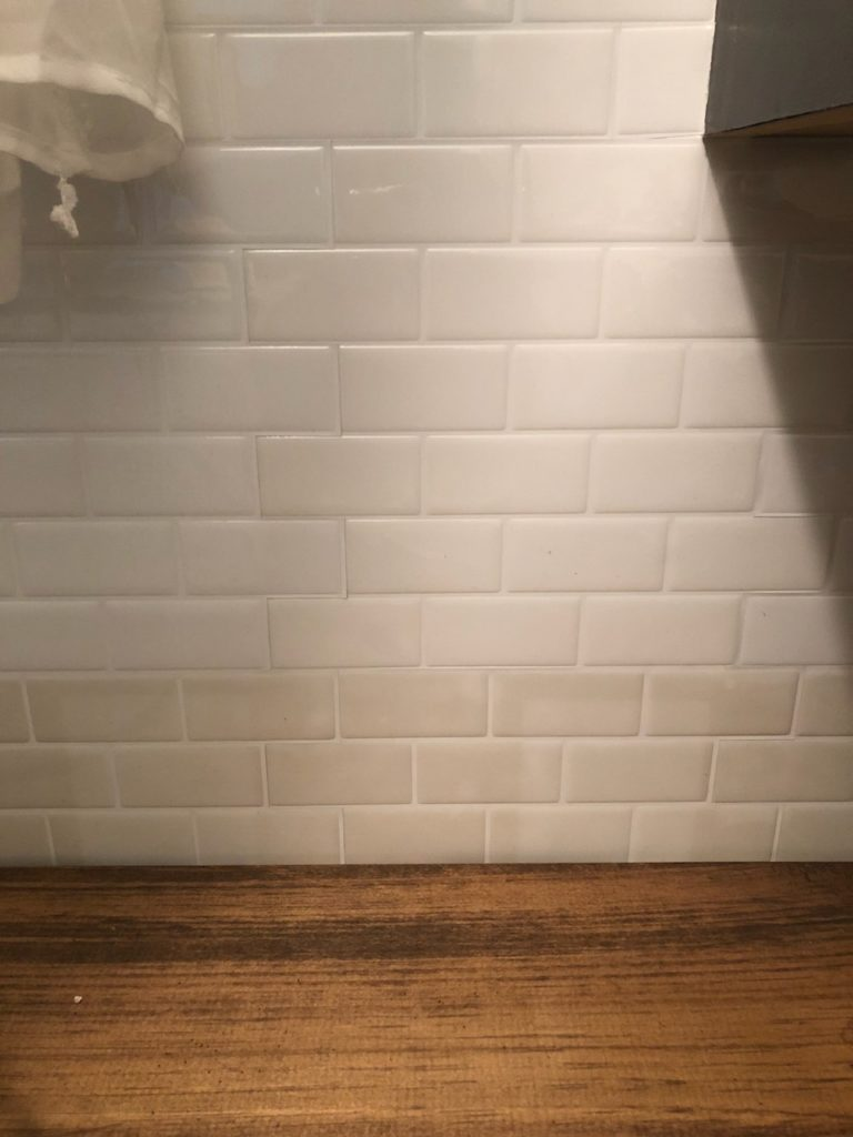 a review of my peel and stick backsplash tiles