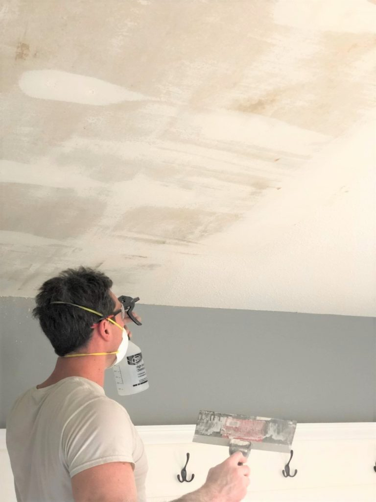 easiest way to remove popcorn ceilings