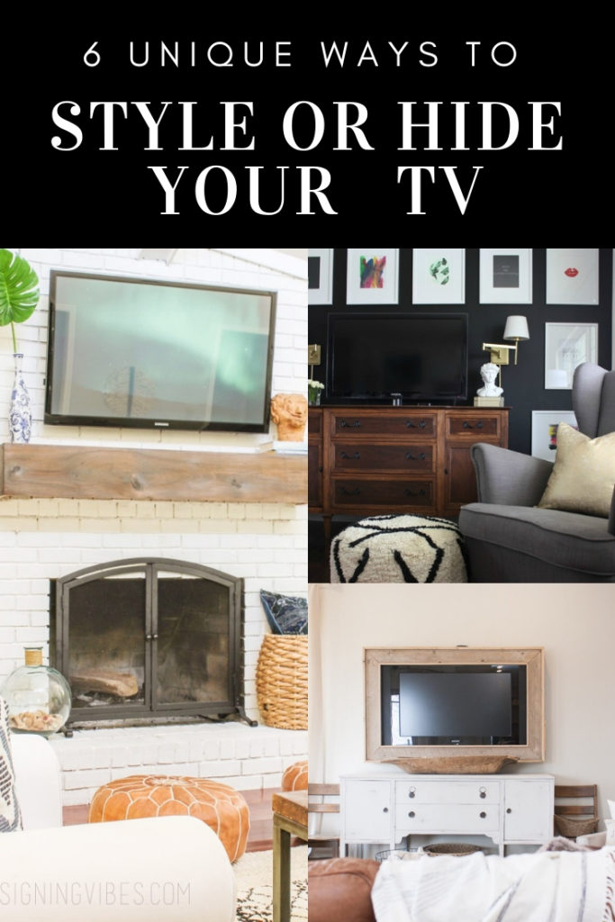 DIY hacks for decorating or disguising your television.