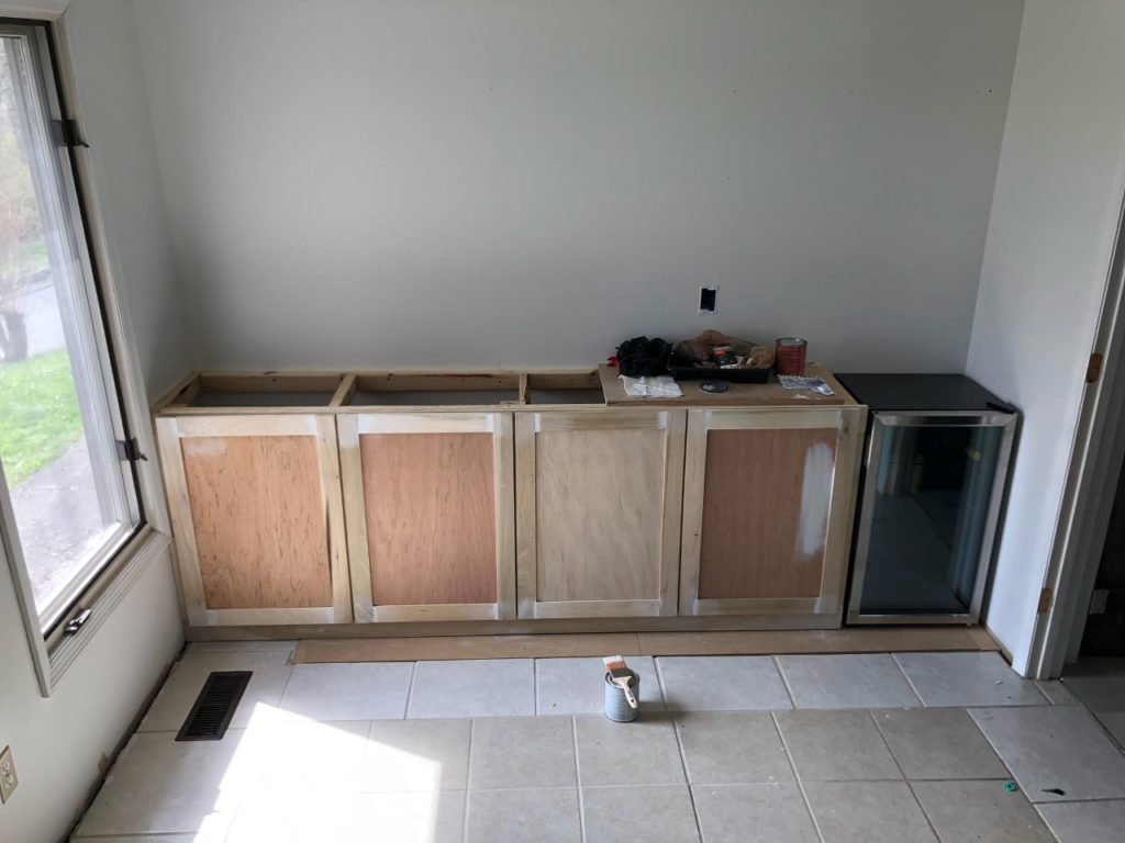 easiest way to build lower cabinets and doors