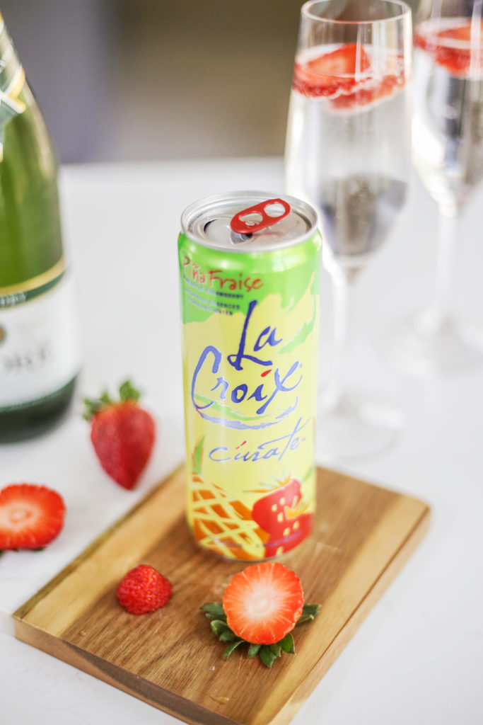 low-sugar cocktail using champagne and la croix