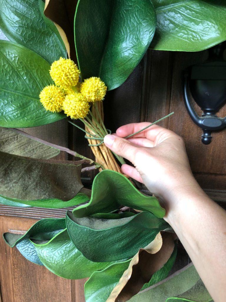 magnolia summer wreath diy