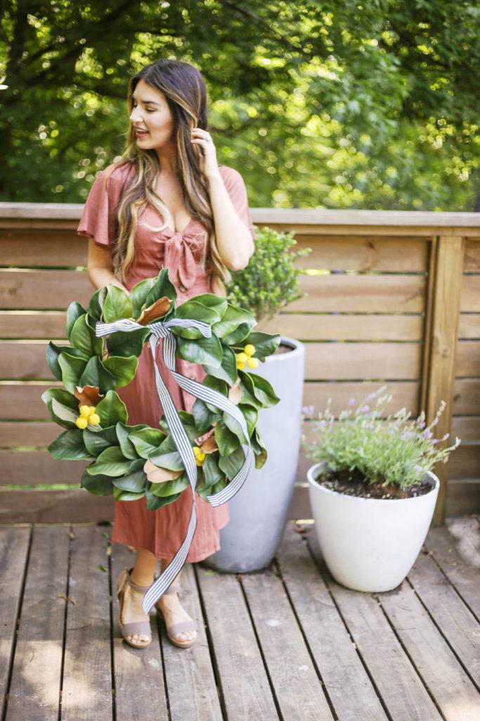 modern farmhouse summer wreath diy