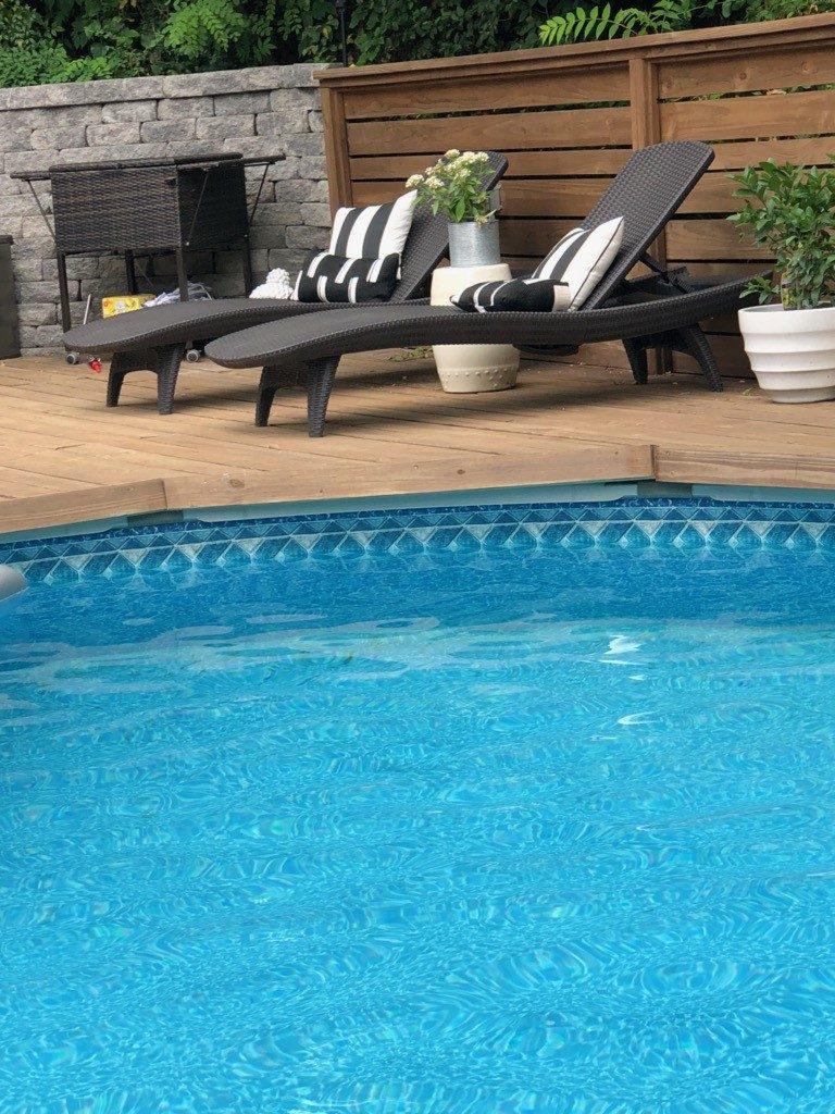 modern deck for pool