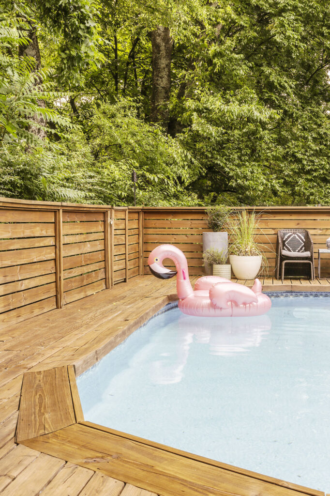 above ground pool deck review