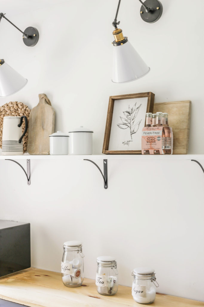 how to build open kitchen shelving cheap
