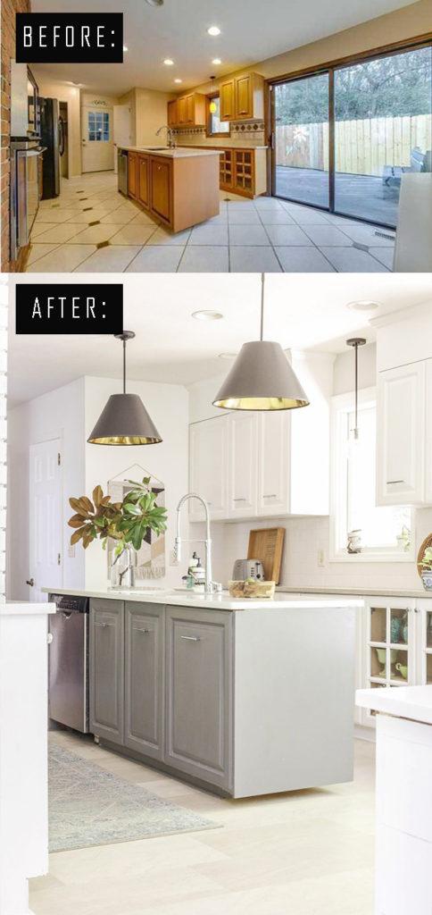 diy modern farmhouse kitchen transformation
