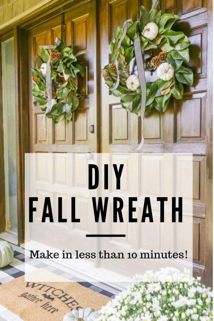 DIY Neutral Fall Wreath with Farmhouse Style