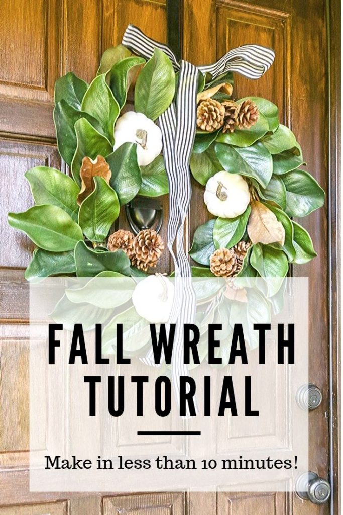 DIY Neutral Fall Farmhouse Wreath