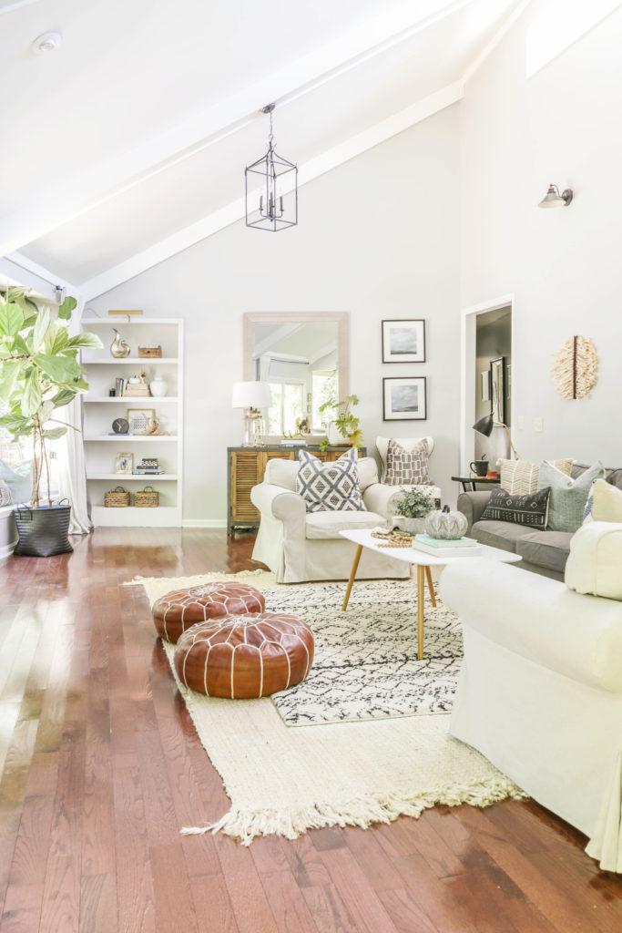 fall home tour featuring neutral modern decor