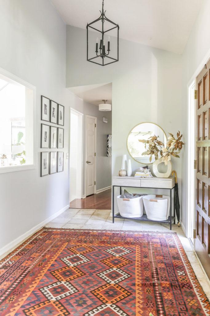fall home tour with boho modern decor