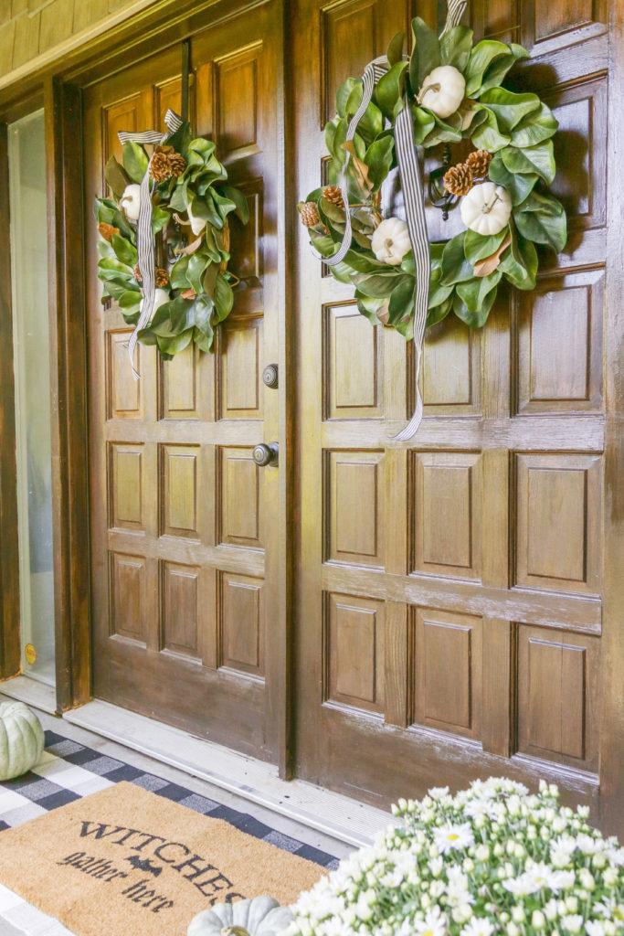 neutral fall farmhouse wreath ideas
