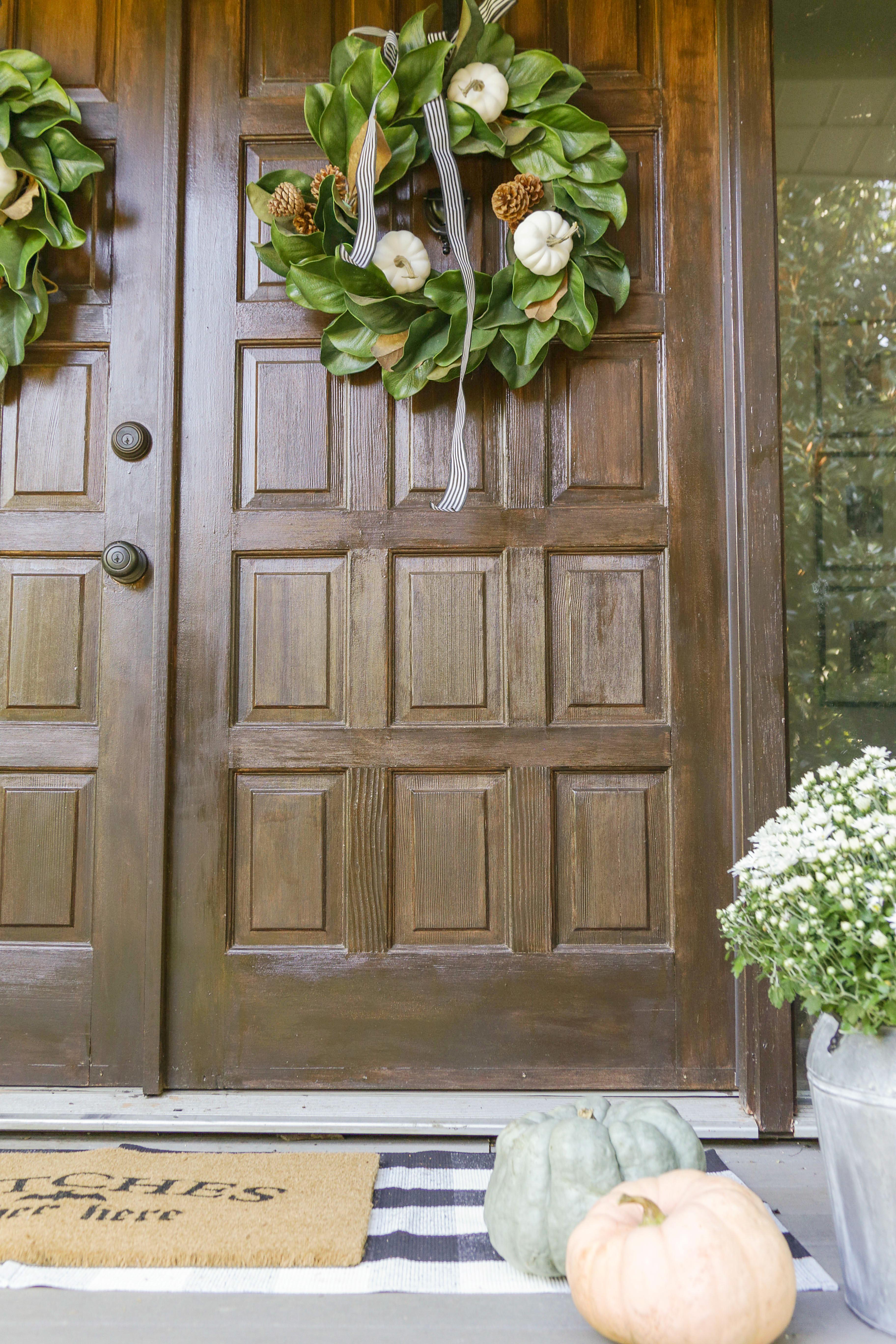 DIY Neutral Fall Farmhouse Wreath Tutorial