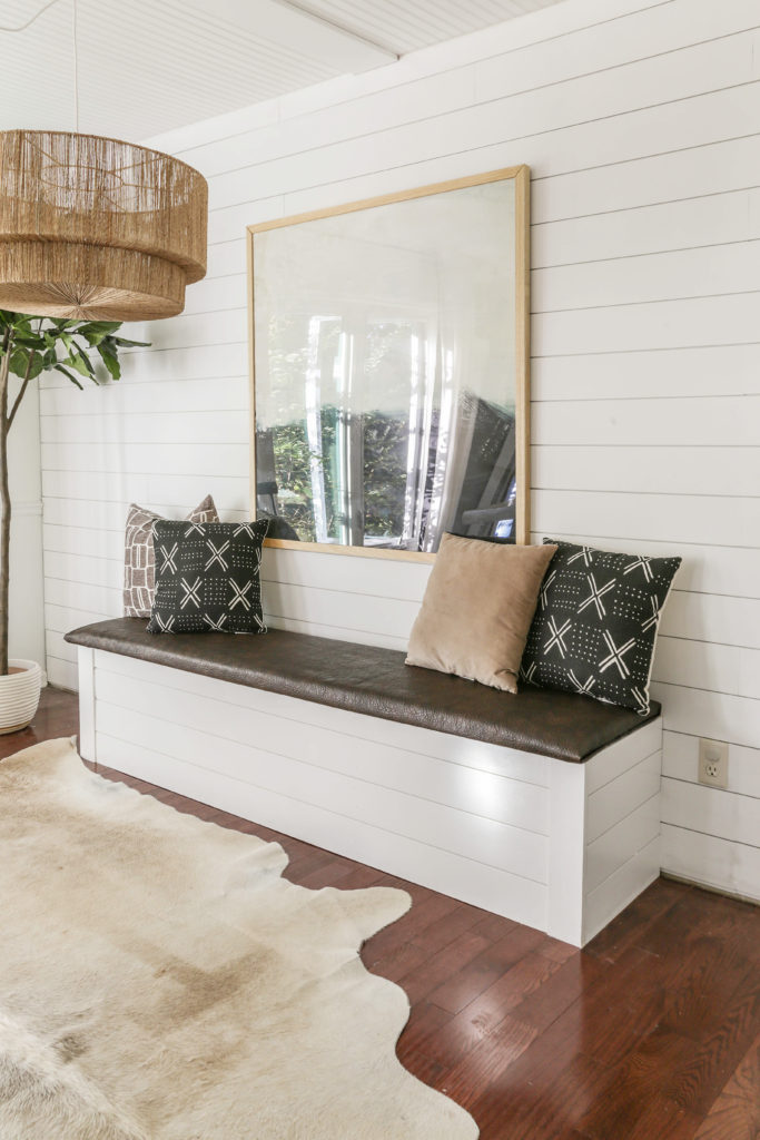 how to build dining banquette with storage