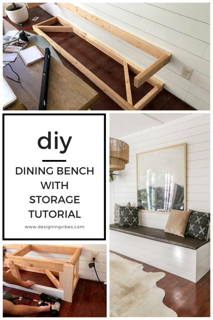 diy built in breakfast nook bench
