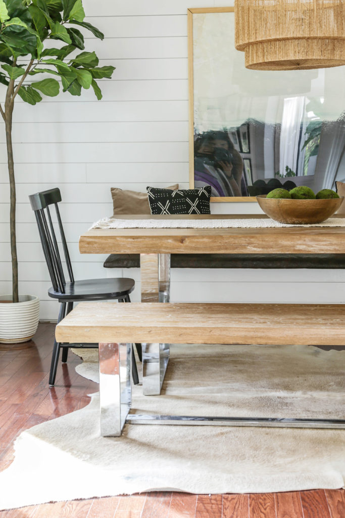 modern organic dining room reveal