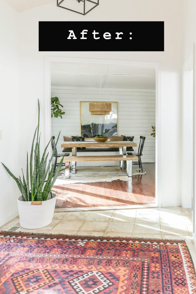 reveal of a dining room makeover