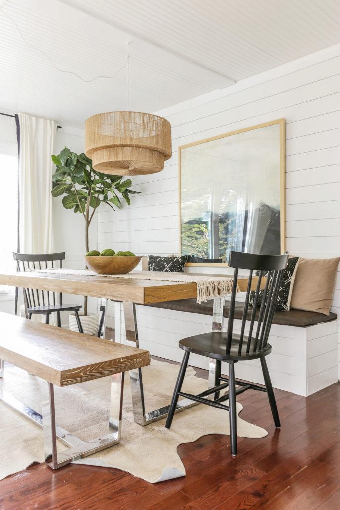 diy modern farmhouse dining nook