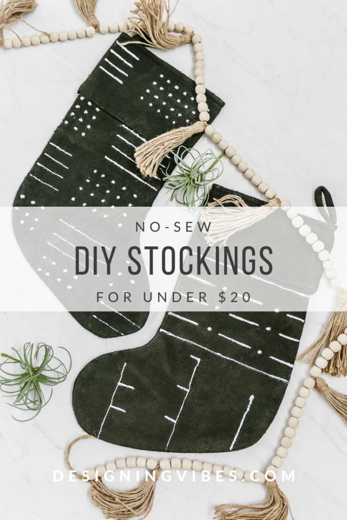 no-sew christmas stockings tutorial