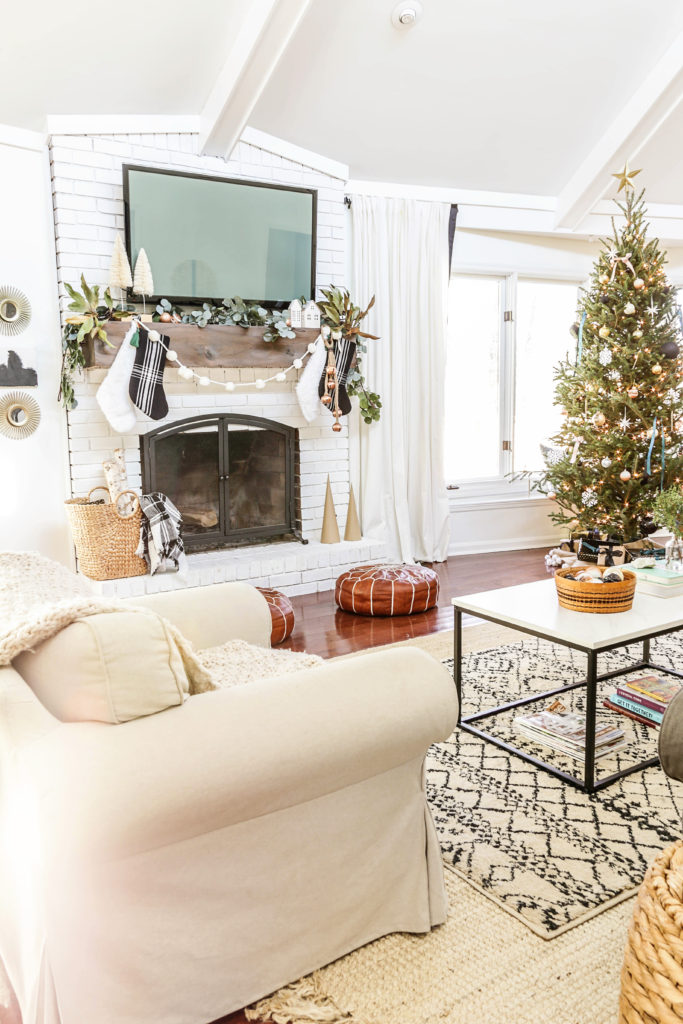 Boho Farmhouse Christmas Home Tour Minimalist Holiday Decorating Ideas