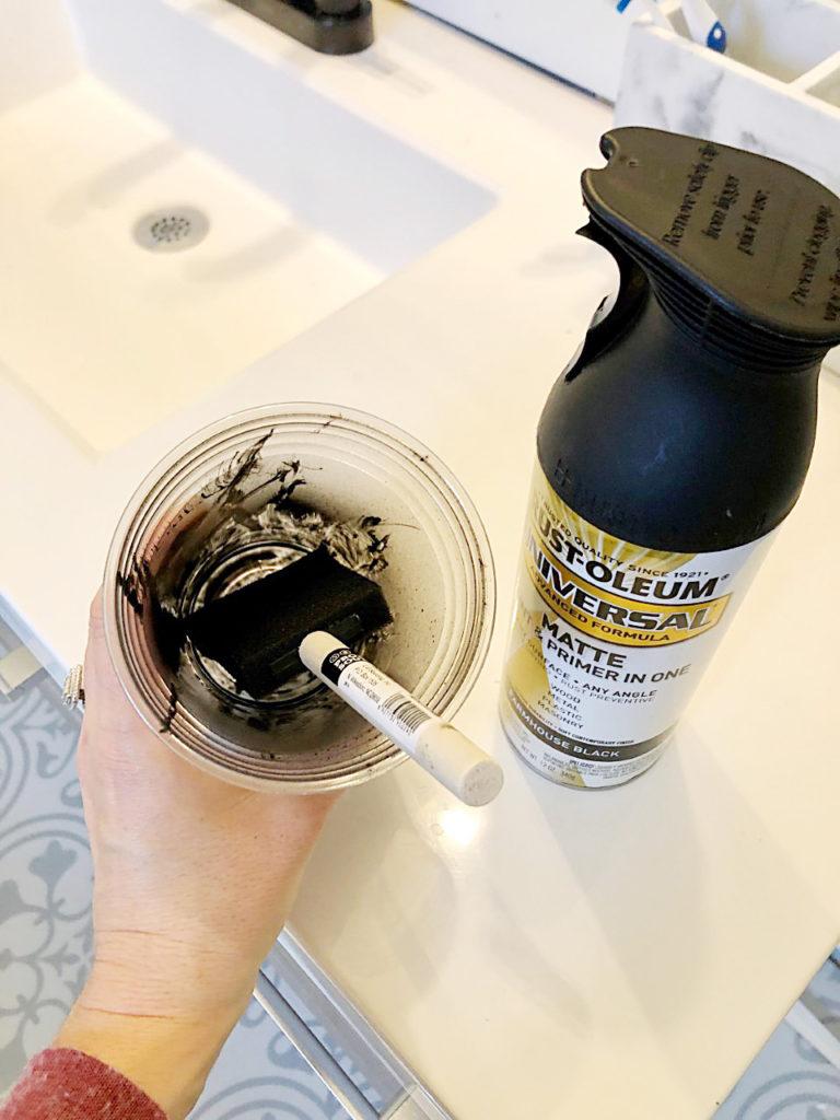 how to paint a faucet matte black