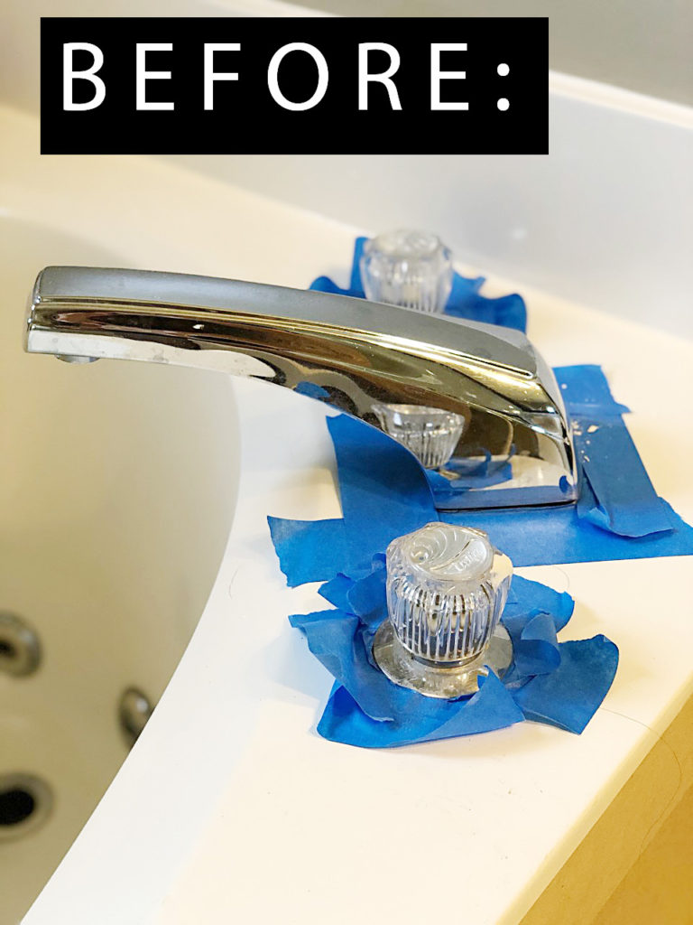 how to paint a faucet without removing it