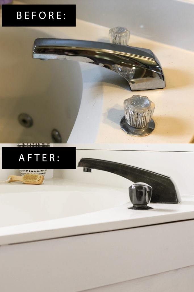 how to paint a faucet while it's attached to bath