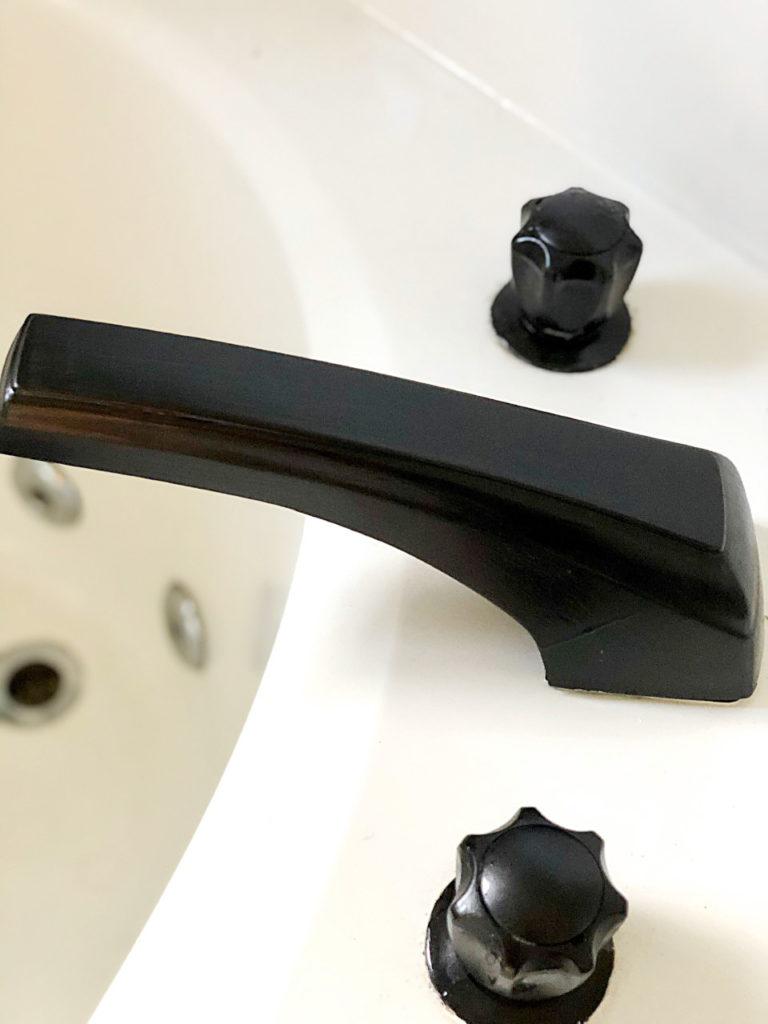 diy matte black faucet makeover