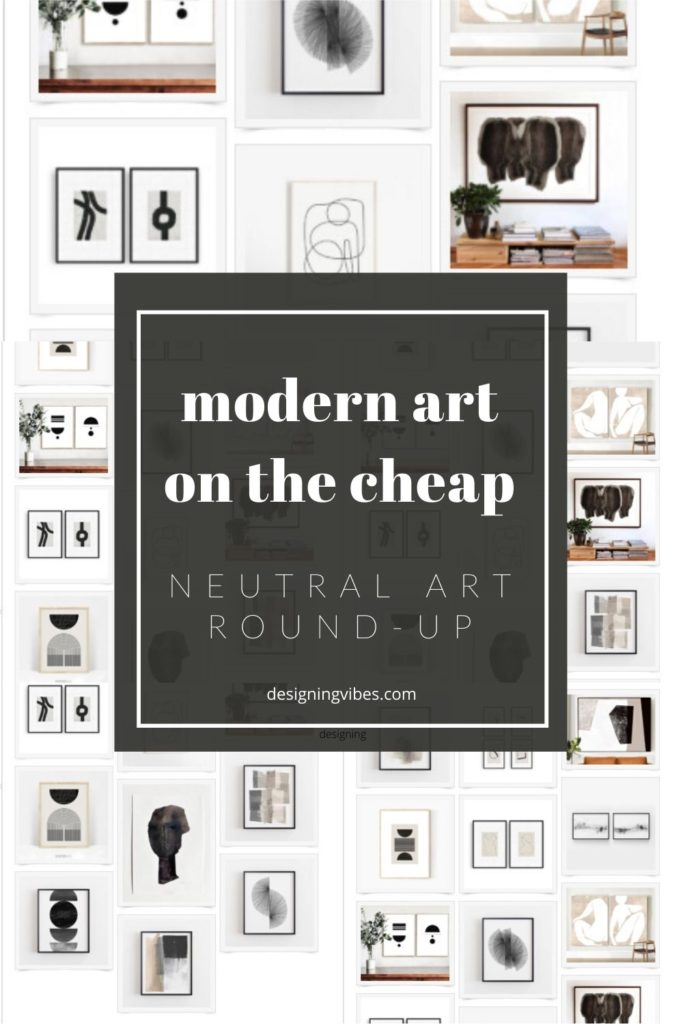 modern neutral art for cheap