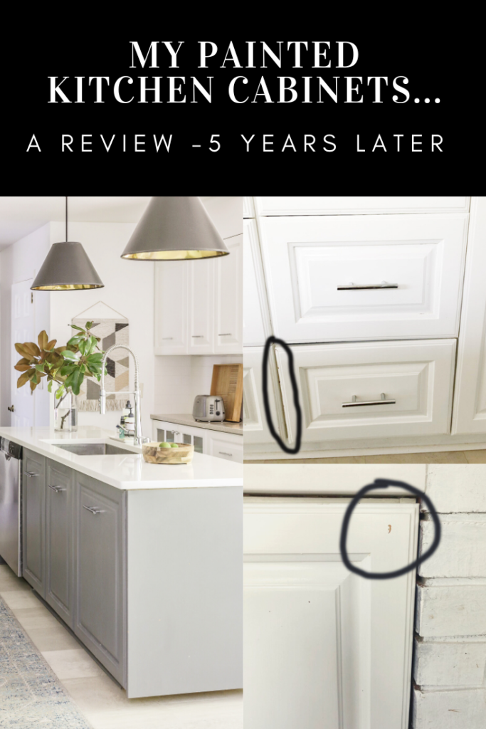 an honest review of my painted kitchen cabinets