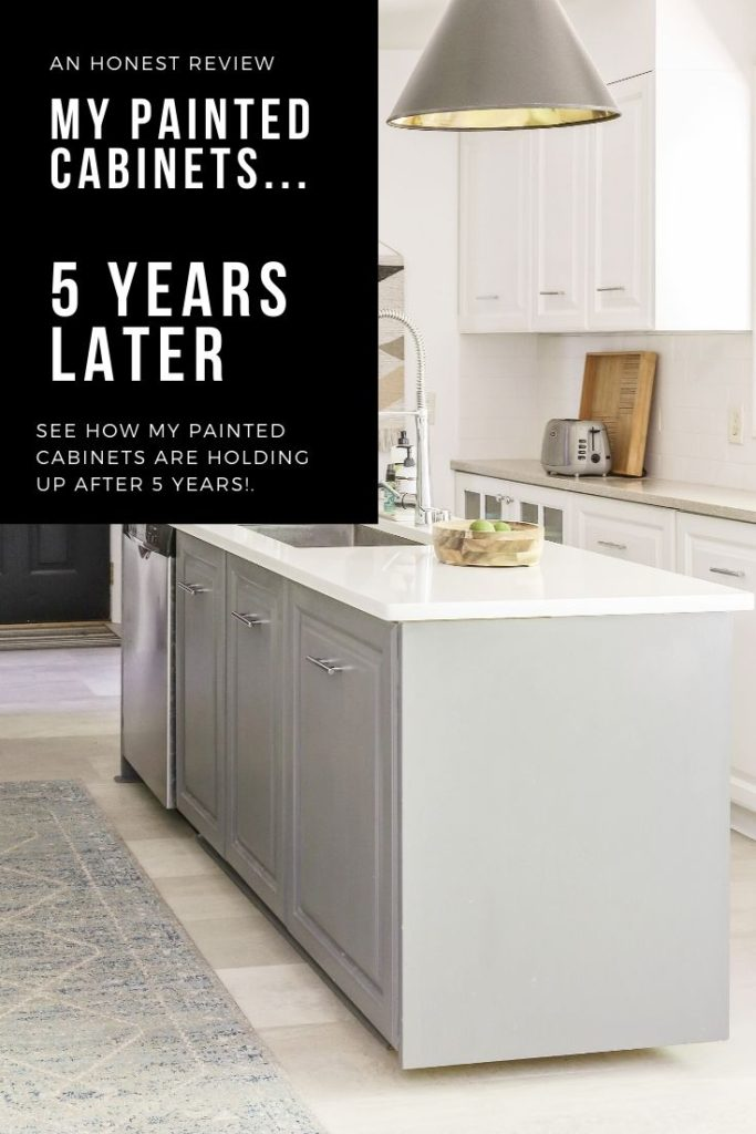 painted kitchen cabinet review, 5 years later