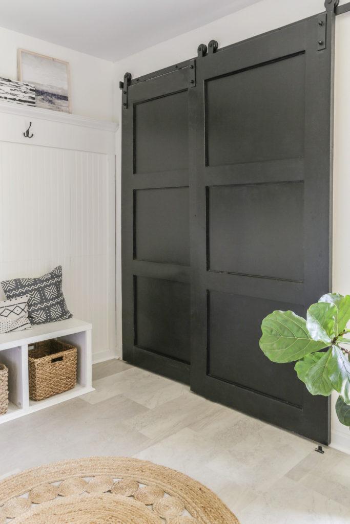how to replace bi-fold closet doors with diy barn doors