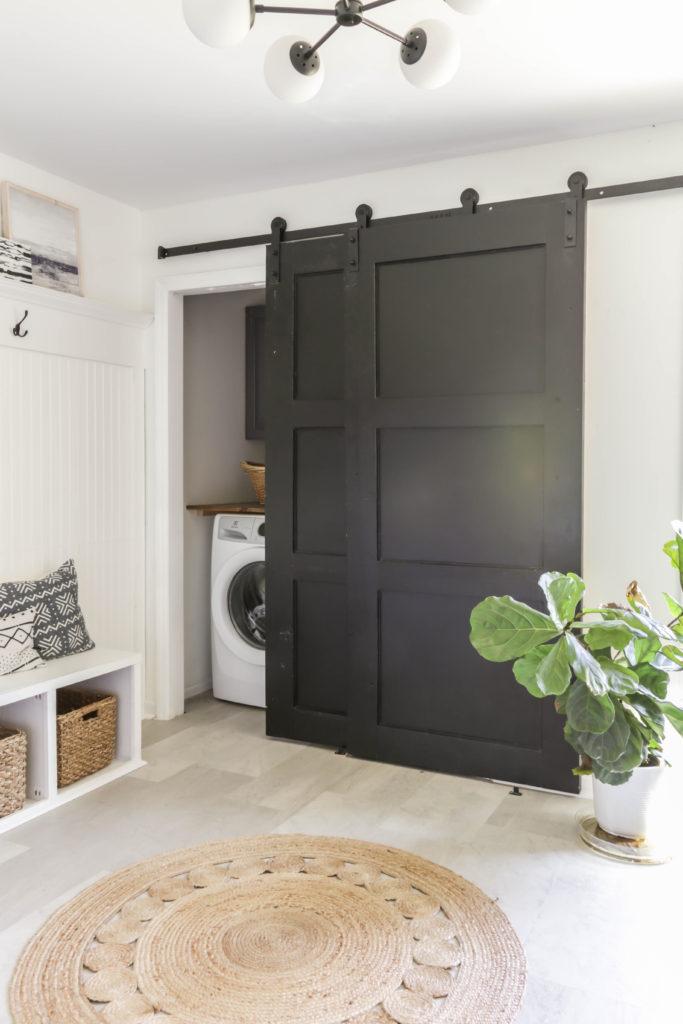 diy modern barn door on the cheap