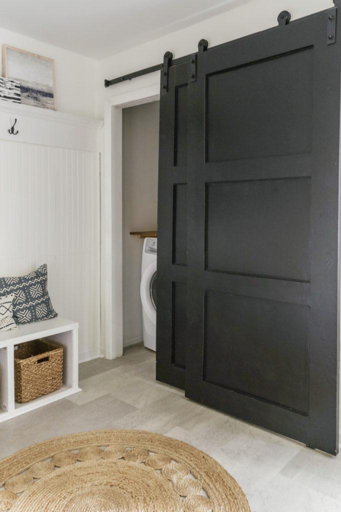 diy barn door for bifold closet doors