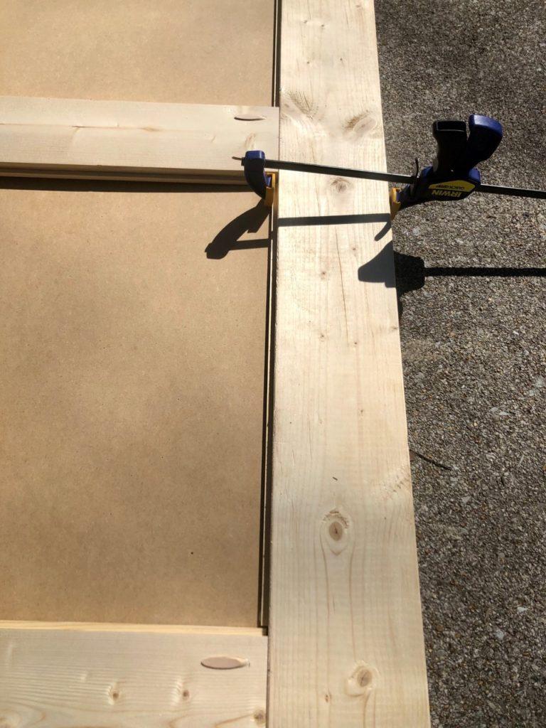 how to build modern farmhouse barn door for closet