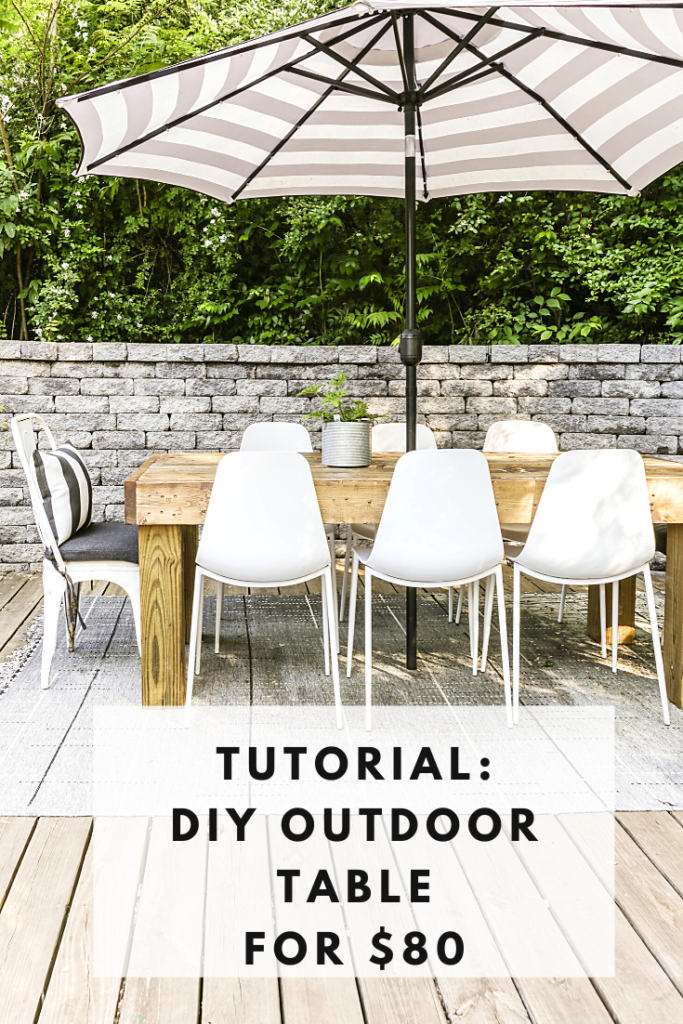 how to build a large wooden patio table