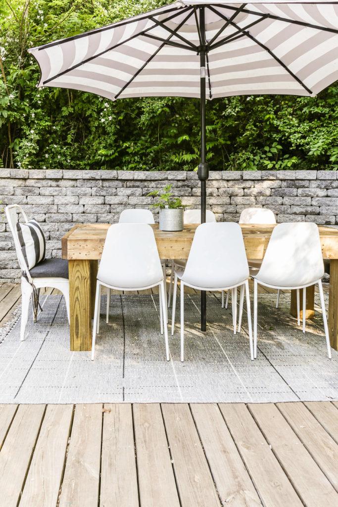 diy modern farmhouse patio table