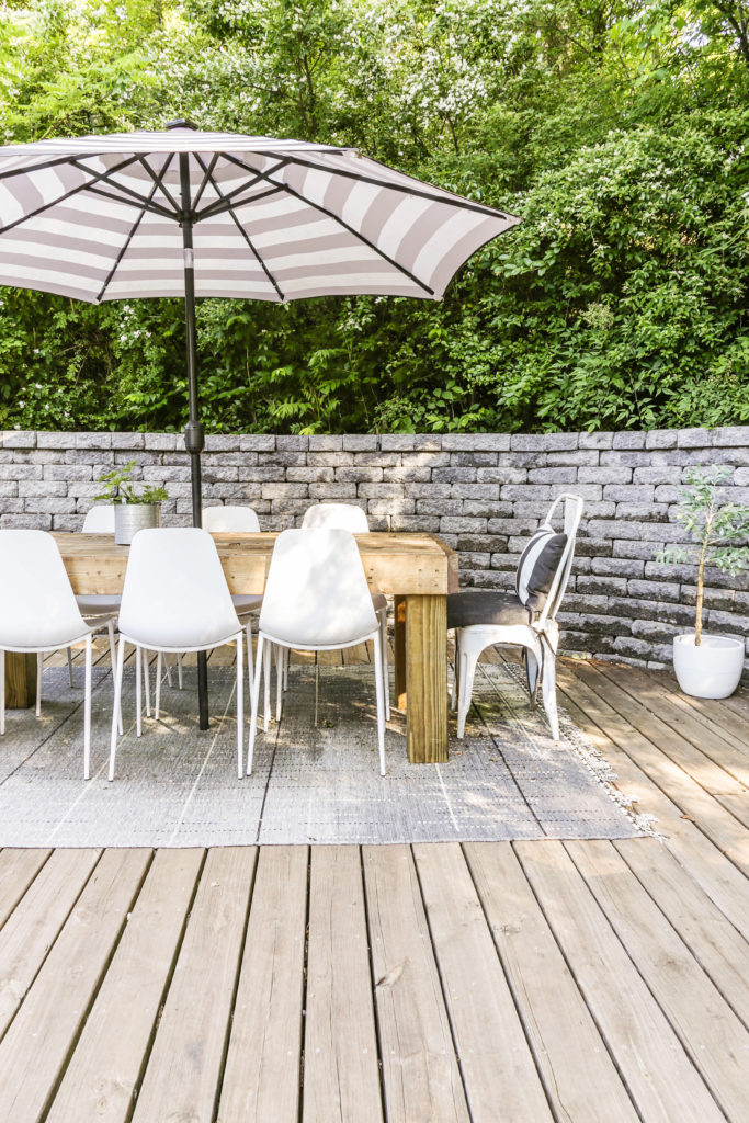 diy tutorial for a modern outdoor dining table